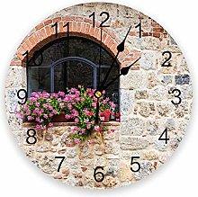 alicefen Gothic Stone Home Stone Wall Clock