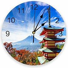 alicefen Mount Fuji Wall Clock Kitchen Home Living