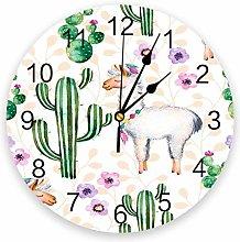 alicefen Nordic Cactus Wall Clock Kitchen Home