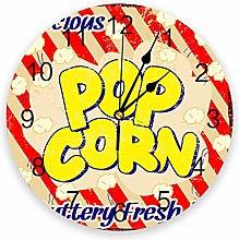 alicefen Popcorn Retro Wall Clock Kitchen Home