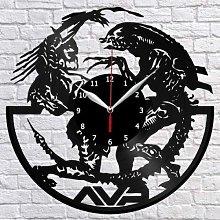 Alien Vs Predator Vinyl Record Wall Clock Fan Art
