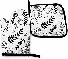 AlineAline Black And White Leaf Pattern Fairy