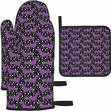 AlineAline Polka Dachshunds (Black And Purple)