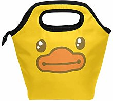ALINLO Cute Yellow Duck Face Lunch Bag Cooler