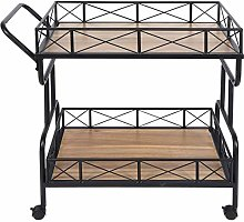 Alinory Storage Cart Safe and Stable Trolley Cart