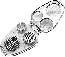 alittlecuteshop Egg Slicer 3 In 1 Stainless Steel