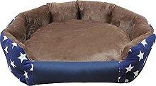 Aliuciku Dog Beds House Sofa Washable Round Plush