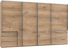 Alkesu Sliding 5 Doors Wardrobe In Planked Oak