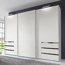 Alkesu Wooden Sliding 3 Doors Wardrobe In White