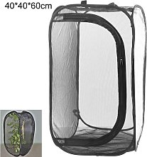 All Black Insect-proof Net Box Foldable Plant