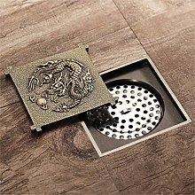 All-Copper Antique Dragon Pattern Large Flow Sink