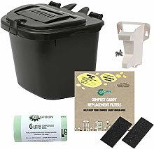 All-Green Charcoal Grey 5L Vented Kitchen Compost