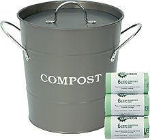 All-Green Charcoal Grey Compost Caddy/Bin for Food