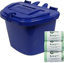 All-Green Dark Blue 5L Vented Kitchen Compost