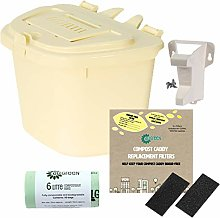 All-Green Ivory 5L Vented Kitchen Compost Caddy -