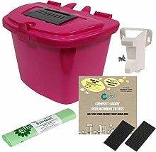 All-Green Pink 7L Kitchen Compost Caddy Food Bin