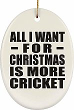 All I Want For Christmas Is More Cricket - Oval