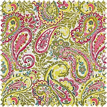 All Over Paisley Pattern Pink Yellow Green