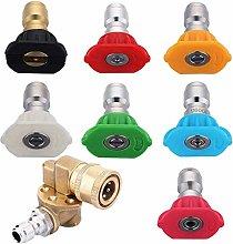 Allamp Pressure Washer Accessories Kit, 180 Degree