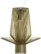 Allegro Assai Pendant by Foscarini Gold