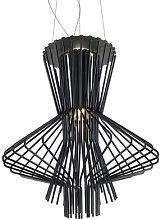 Allegro Ritmico Pendant by Foscarini Black
