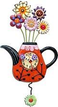 Allen Designs Flower Tea Ful Clock