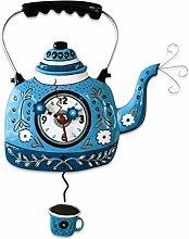 Allen Designs Kettle Blue Pendulum Clock