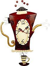 Allen Designs Steamin Tea Pendulum Wall Clock