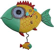 Allen Designs Wide Eyed Fishy Pendulum Wall Clock