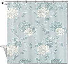 AllenPrint Shower Curtain,Polyester An Duck Egg