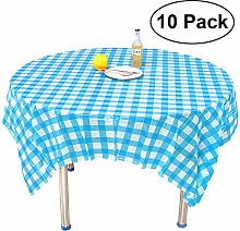 """AllGoodWare 10 Pack 78"""" Round Plastic Tablecloth"""