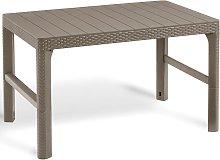Allibert Garden Table Lyon Cappuccino 232296