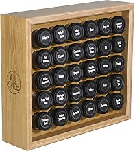 AllSpice Wooden Spice Rack, Includes 30 118ml