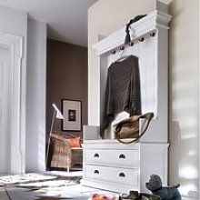 Allthorp Hallway Coat Rack And Bench Unit In