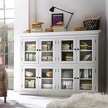 Allthorp Wooden 8 Doors Display Cabinet In Classic