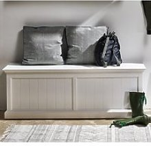 Allthorp Wooden Hallway Storage Bench In Classic