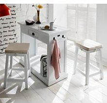Allthorp Wooden Kitchen Dining Set In Classic White