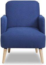 Ally Armchair Zipcode Design Upholstery: Navy Blue