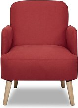Ally Armchair Zipcode Design Upholstery: Red