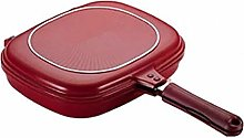 Almabner Square Double Sided Frying Pan, Kitchen