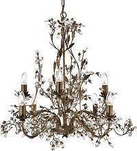 Almandite Brown Gold Chandelier Ceiling Light