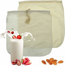 Almond Milk Bag - 2 Pack Organic Cotton/Hemp Nut
