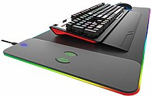 Almost Wireless Charging Mouse Pad, Qi 3 In 1