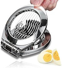Aloces Egg Slicer, Stainless Steel Egg Cutter with