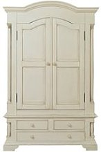 Alonzo Wardrobe In Antique White With 2 Doors And