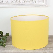 Alora Buttercup Yellow Drum Lampshade (35 cm