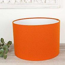 Alora Spice Orange Drum Lampshade (35 cm Diameter