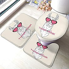 Alpaca Bathmat,Fashion Alpaca With Love Heart