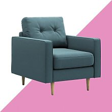Alpes Armchair Hashtag Home Upholstery Colour: Jade