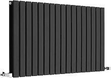 Alpha - Modern Black Horizontal Double Flat Panel